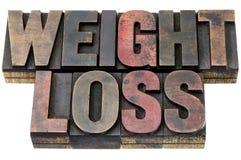 Потеря веса в деревянном типе стоковые фото