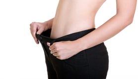 Потеря веса женщины Стоковая Фотография