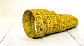 Потеря веса, концепция диеты, измеряя знамя ленты стоковое изображение