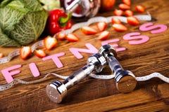 Потеря веса, фитнес, здоровый и свежий стоковые изображения