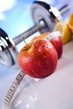 Потеря веса, фитнес, яркая красочная концепция тона стоковое фото rf