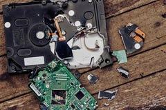 Потеря жёсткого диска информации сломанного компьютера стоковые изображения