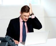 потеря предпринимателя дела несчастная стоковое фото