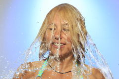 Потеха воды женщины стоковая фотография rf