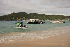 Потеха гребли в наветренных островах на воскресенье Стоковые Фотографии RF