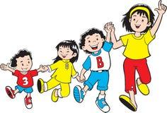 потеха детей имеет совместно Стоковые Изображения RF