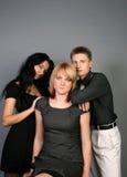 потеха друзей имея 3 совместно Стоковое Фото