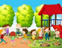 потеха детей имея парк бесплатная иллюстрация