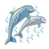 Потеха дельфин усмехается также вектор иллюстрации притяжки corel Стоковое Изображение