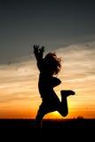 Потеха захода солнца Стоковые Фото