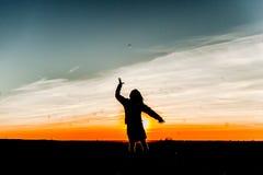 Потеха захода солнца Стоковая Фотография RF