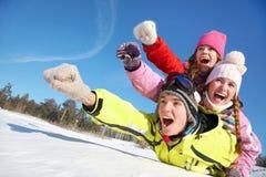 Потеха зимы Стоковая Фотография