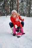 Потеха зимы Стоковые Изображения RF