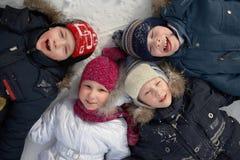 Потеха зимы ` s детей Стоковое Изображение RF
