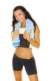 потеха имеет детенышей разминки женщины Стоковое Изображение RF