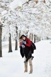 потеха имея зиму места Стоковое Изображение RF