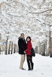 потеха имея зиму места Стоковое Изображение