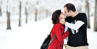 потеха имея зиму места Стоковые Фотографии RF