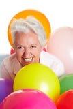 потеха имея старшую женщину Стоковое фото RF