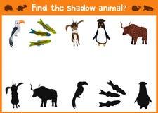Потеха и красочная игра головоломки для развития детей находят где олени, striped Сибирский бурундук и рыба Лабиринты тренировки  иллюстрация штока