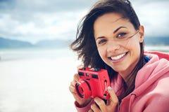 Потеха камеры пляжа стоковое изображение rf
