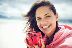 Потеха камеры пляжа стоковая фотография