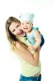 потеха младенца имея мать Стоковое Фото