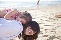 Потеха на пляже Стоковое фото RF