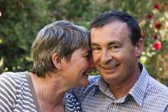 потеха пар пожилая имея совместно Стоковое фото RF