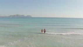 потеха пар пляжа имея детенышей видеоматериал
