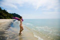 потеха пляжа имея Стоковая Фотография RF