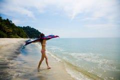 потеха пляжа имея Стоковое Изображение RF