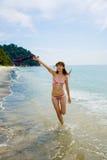 потеха пляжа имея Стоковые Изображения RF