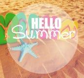 Потеха пляжа лета Стоковые Изображения RF
