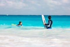 Потеха пляжа семьи Стоковое Изображение RF