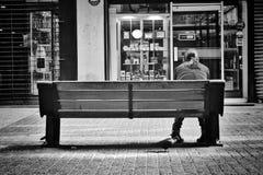 потеха предпосылки черная изолируя ся белую женщину Стоковое Фото