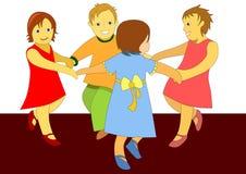 потеха принципиальной схемы ребенка младенца имея играть иллюстрации Стоковые Фотографии RF