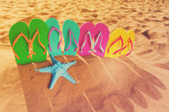 Потеха пляжа лета Стоковые Изображения