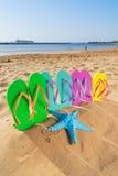 Потеха пляжа лета Стоковые Фотографии RF