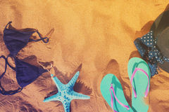 Потеха пляжа лета Стоковое фото RF