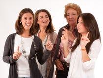 Потеха семьи женщин стоковое фото
