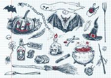 Потеха хеллоуина doodles #1 Стоковое Изображение RF