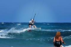 Потеха Эгейского моря Prasonisi спорта Стоковые Изображения RF