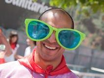 потеха 6 имея pamplona -го людей Испанию в июле Стоковые Фотографии RF