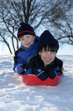 потеха sledding Стоковая Фотография RF