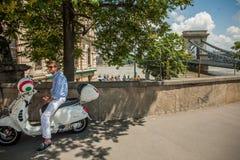 Потоки Будапешта Стоковая Фотография RF