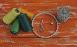 Потоки в деталях катушки и ремесленничества стоковые фото