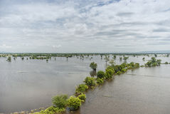 Потоки Таиланда, стихийное бедствие стоковое изображение rf