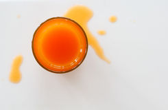 Поток апельсинового сока Стоковое Фото