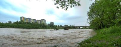 Поток весны на реке стоковое изображение rf